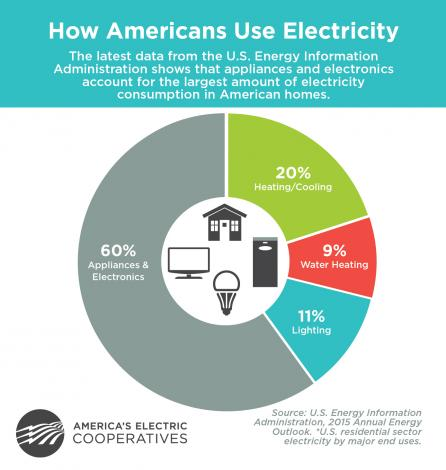 How American use electricity